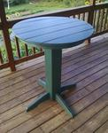 Amish Poly Round Bar Table