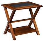 Amish Lexington End Table with Bottom Shelf