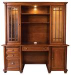 Belmont Credenza Desk with Optional Hutch Topper