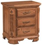 Southern Deluxe Three-Drawer Nightstand