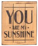 American Made Rustic Wood Reminder - You Are My Sunshine