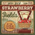 American Made You Pick 'Em Strawberries Plaque