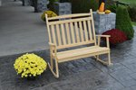 Pine Wood Double Classic Porch Rocker