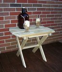 Pressure Treated Pine Wood Folding End Table