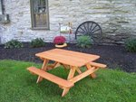 Pressure Treated Pine Wood Kids Picnic Table