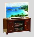 Quick Ship Economy TV Stand with Raised Panel Doors