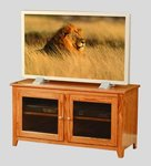 Economy Small TV Stand with Glass Doors - Quick Ship