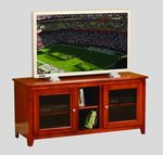 "Amish Economy 52"" TV Stand with Glass Doors - Quick Ship"
