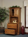 Highland File Cabinet with Short Door Bookcase