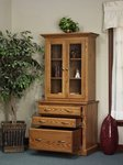 Amish Highland Full Door Bookcase with Storage Cabinet