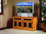 HDTV Square Shaker TV Stand with Smoked Glass Doors