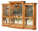 Amish Deluxe 3 Piece Sliding Door Curio Cabinet