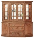 """Brookville 76"""" Canted Buffet & Hutch by Keystone"""