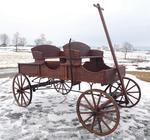 Amish Old Fashioned Buckboard Wagon - Jumbo Premium