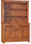 Primitive Pine Wood Farmhouse Hutch