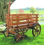 Amish Wooden Express Wagon - Large Premium