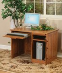 """Amish Flat Top Computer Desk with Raised Panel Back 42"""""""