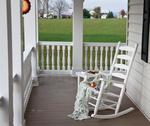 Amish Ash Wood Ladder Back Porch Rocker