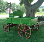 Old Fashioned Buckboard Wagon - Large Rustic