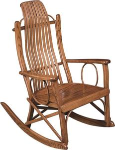 Amish Bent Wood Flat Arm Rocking Chair