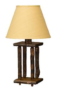 Amish Spindle Hickory Wood Lamp (Shade Not Included)