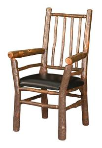 Amish Rustic Hickory Four Spindle Back Dining Chair