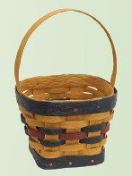 "Amish Eco Friendly 7"" Square Basket"
