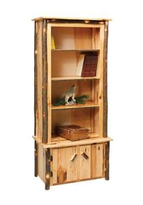 "Amish Rustic Cabin Hickory 32"" Bookcase"