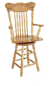 Amish Pressback Turned Leg Barstool