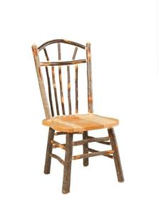 Amish Rustic Cabin Hickory Wagon Wheel Chair