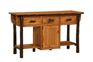 Solid Wood American Made Furniture Hickory Kitchen Island