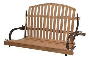 Amish Rustic Hickory Deacon Porch Swing