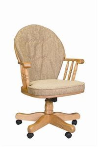 Amish Heritage Swivel Dining Room Chair or Office Chair
