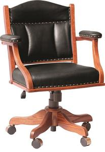 Amish Low Back Home Office Chair with Arms