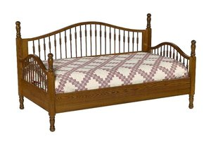 Amish Solid Wood Spindle Day Bed- Twin