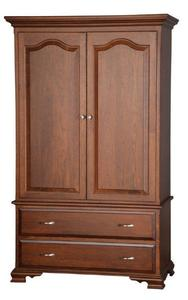 Amish Solid Wood Armoire with Drawers