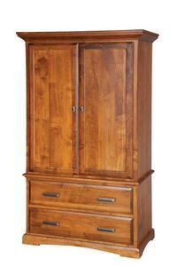 "Amish 42"" Wood Armoire Wardrobe"