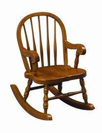 Amish Bow-Back Windsor Childs Rocking Chair