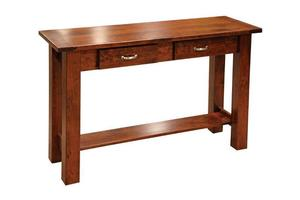 Amish Havannah Sofa Table with Breadboard Ends