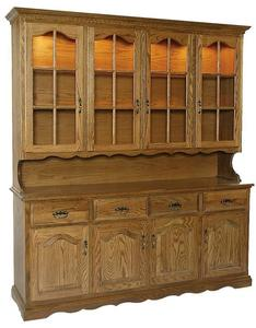 Amish Large Four Door Dining Hutch