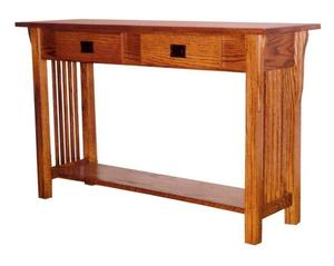 Amish Prairie Mission Sofa Table with 2 Drawers
