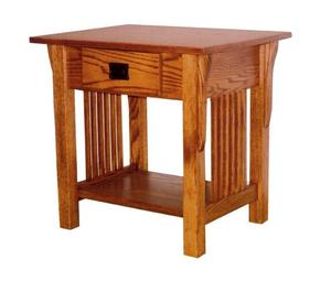 Amish Prairie Mission End Table with Drawer