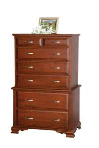 "Amish 36"" Chest on Chest of Drawers"