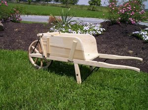 Amish Old Fashioned Wheelbarrow - Small Premium