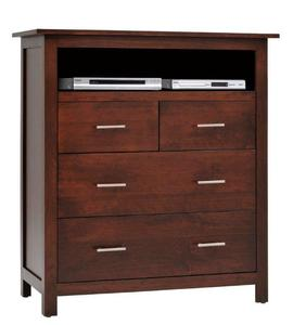 Amish Ashton Chest of Drawers with DVD Shelf