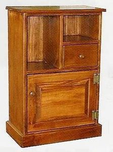 Amish Pine Wood End Table Cabinet
