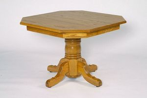 Amish Clipped Corner Single Pedestal Dining Table