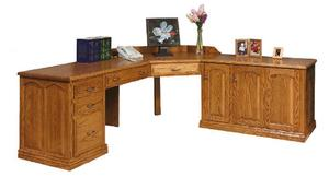 Amish Made Solid Wood L Desk
