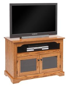 """Amish 40"""" TV Stand with Glass Doors"""