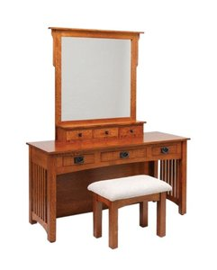 "Amish 60"" Lynchburg Mission Vanity Dressing Table"
